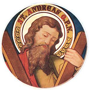 Sankt Andreas er kirkens skytshelgen.