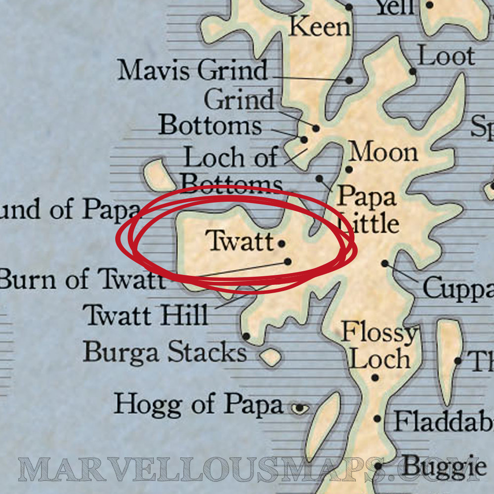 A hamlet in the Shetlands, Scotland (as featured on our Marvellous Map of Great British Place Names)