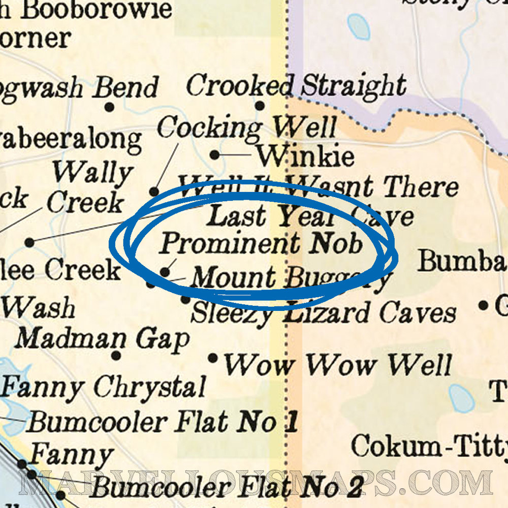 A delightful hill in South Australia (from our Marvellous Map of Actual Australian Place Names)