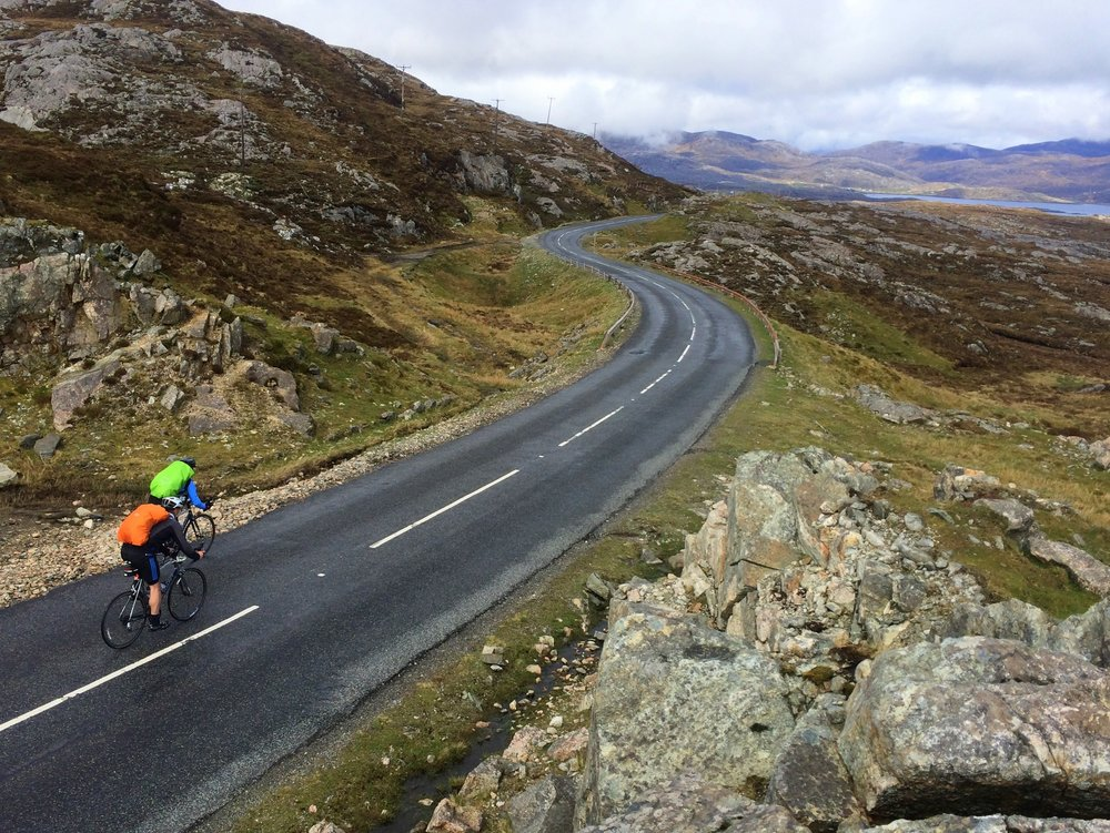 [Bit 'straight'?] Cycling through the hills of Harris, Outer Hebrides - a far cry from the low, flat lands and machair of the Uists