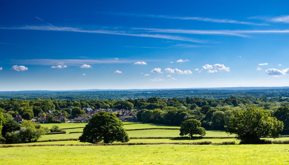 The North Downs include the Surrey Hills AONB (seen here from Holmwood Common) and the Kent Downs AONB  (SuxxesPhoto/Shutterstock)