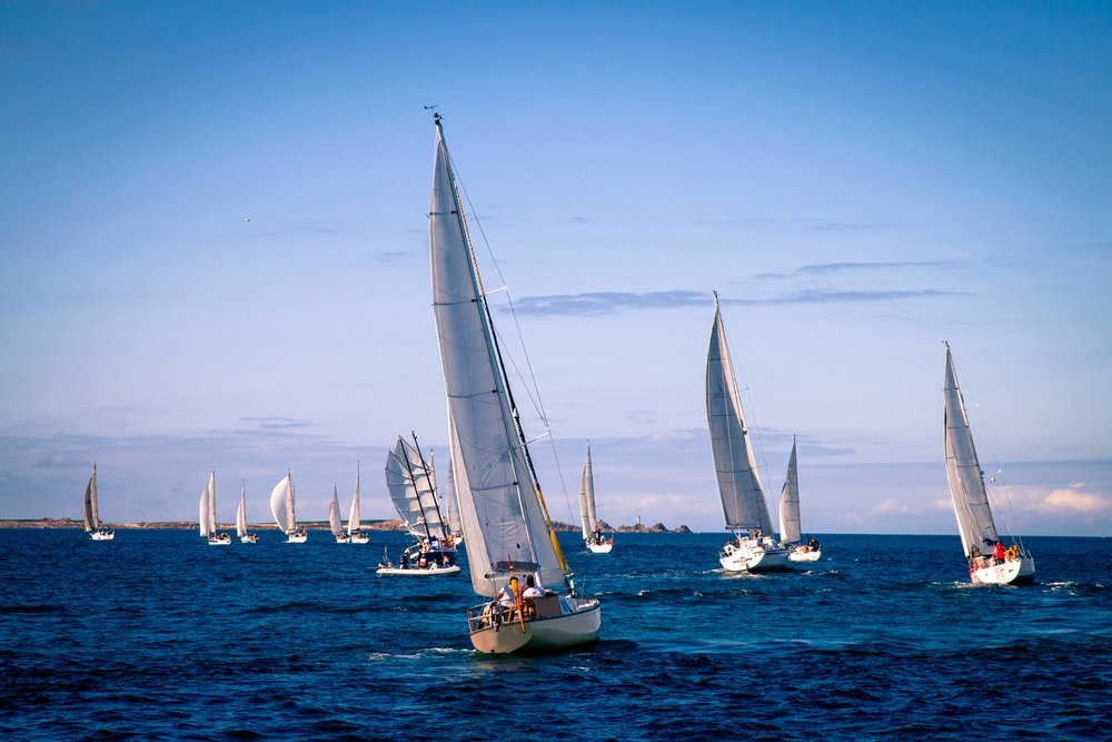 Yachts racing in the Scilly Isles, England  (Anna Kepa/Shutterstock)