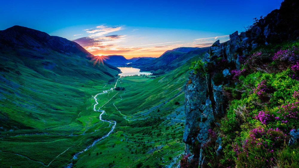 A fine Buttermere sunset, Lake District, England  (Michael Conrad/Shutterstock)