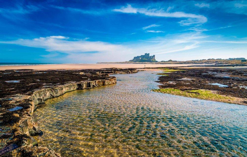 Bamburgh castle, Northumberland coast  (Michael Conrad/Shutterstock)