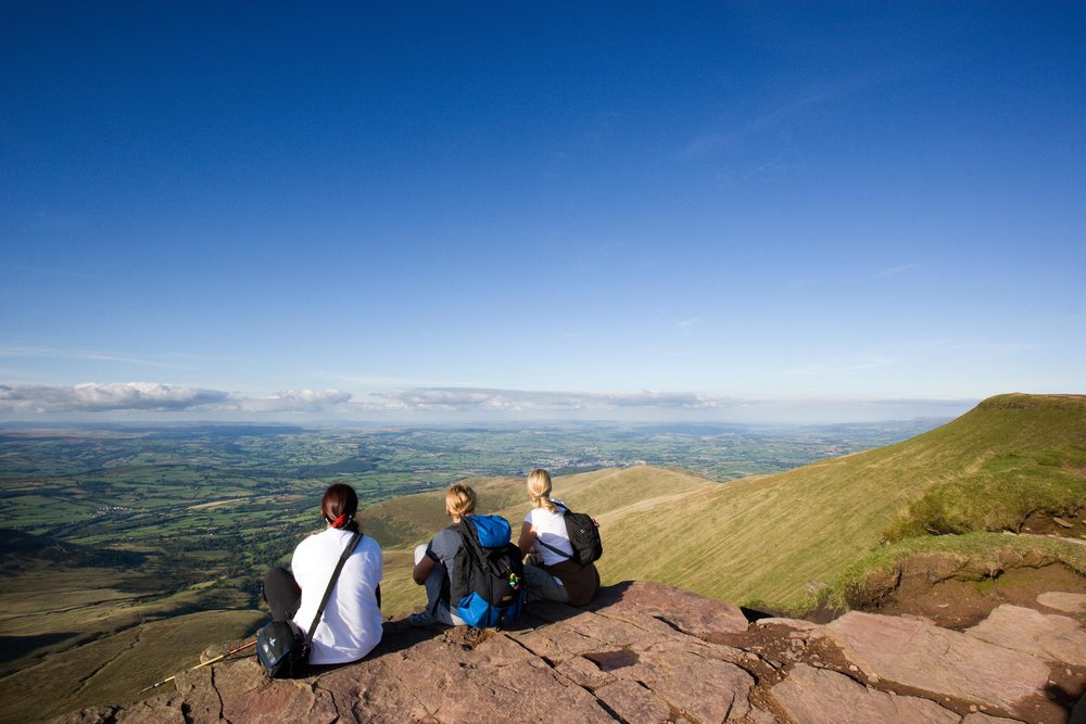 Hikers in the Brecon Beacons, Wales  (Crown copyright 2018 / Visit Wales)