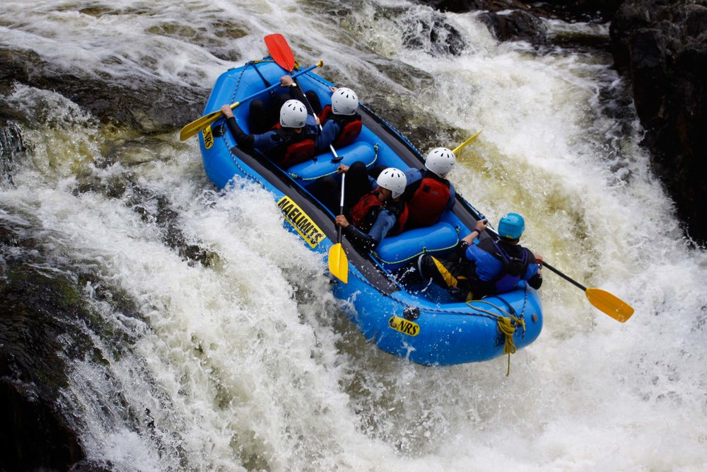 Rafting over the Linn of Tummel, Perthshire  (Humphrey Butler/Marvellous Maps)