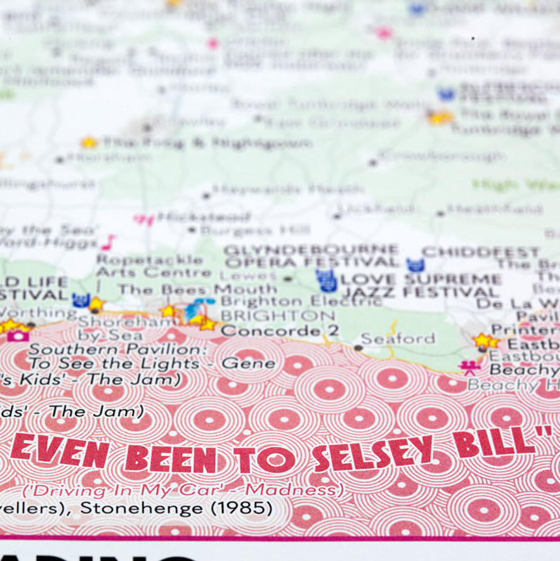 ST&G's Fastidiously Orchestrated Great British Music Map -  Close-up Selsey Bill-1200px
