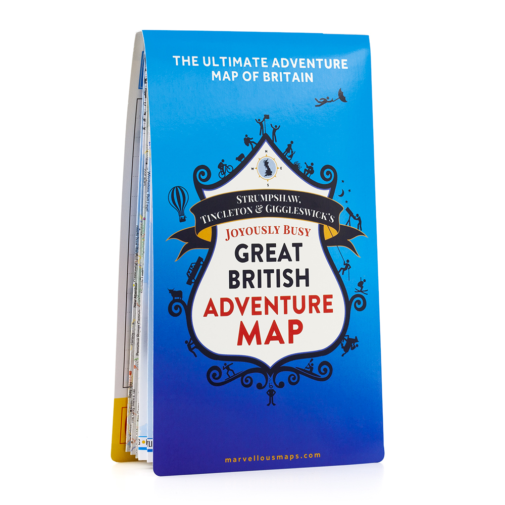 ST&G's Joyously Busy Great British Adventure Map - Folded 1 front 1000px