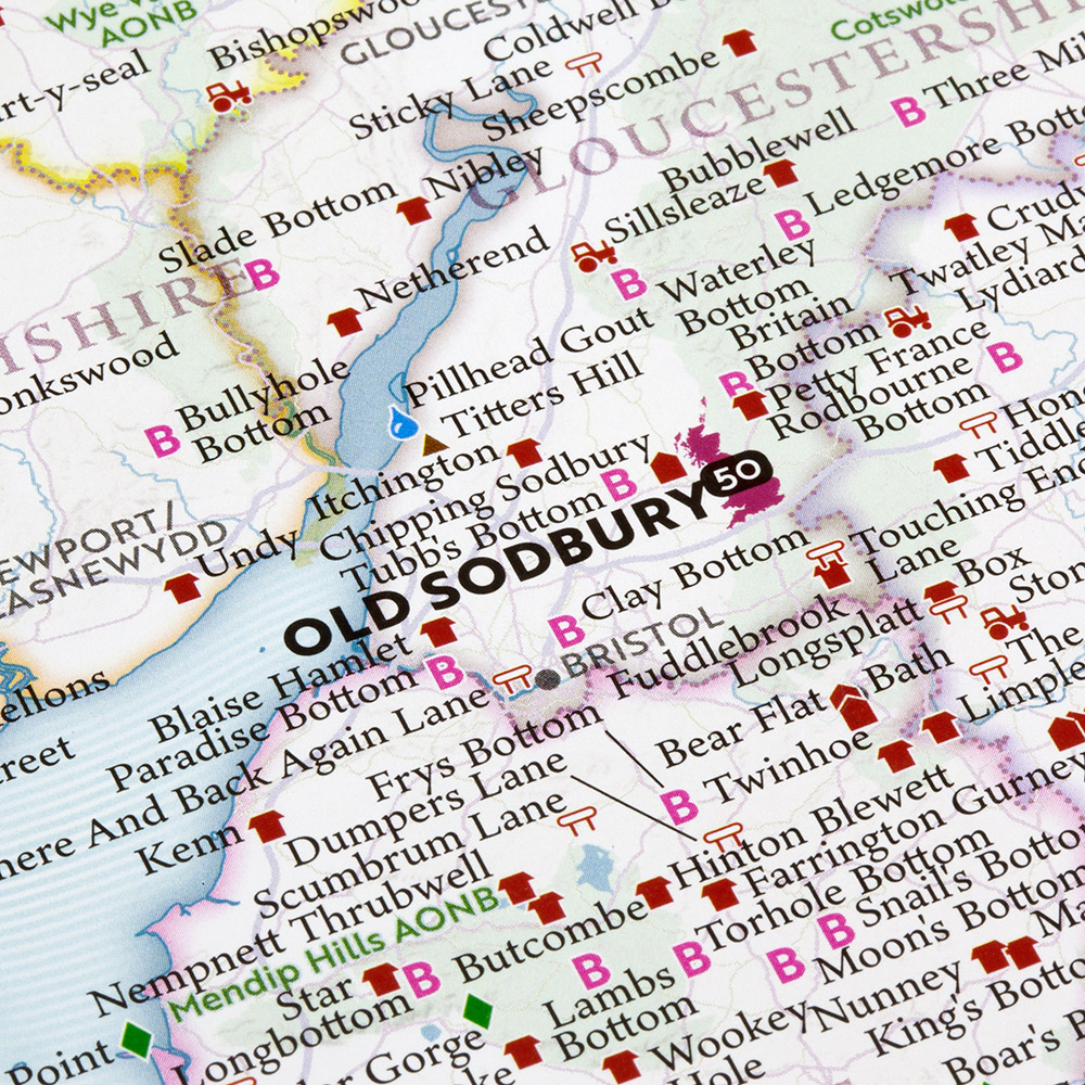 The Marvellous Map of Great British Place Names   (Marvellous Maps)