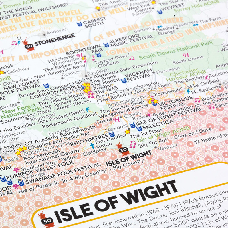 The Fastidiously Orchestrated Great British Music Map