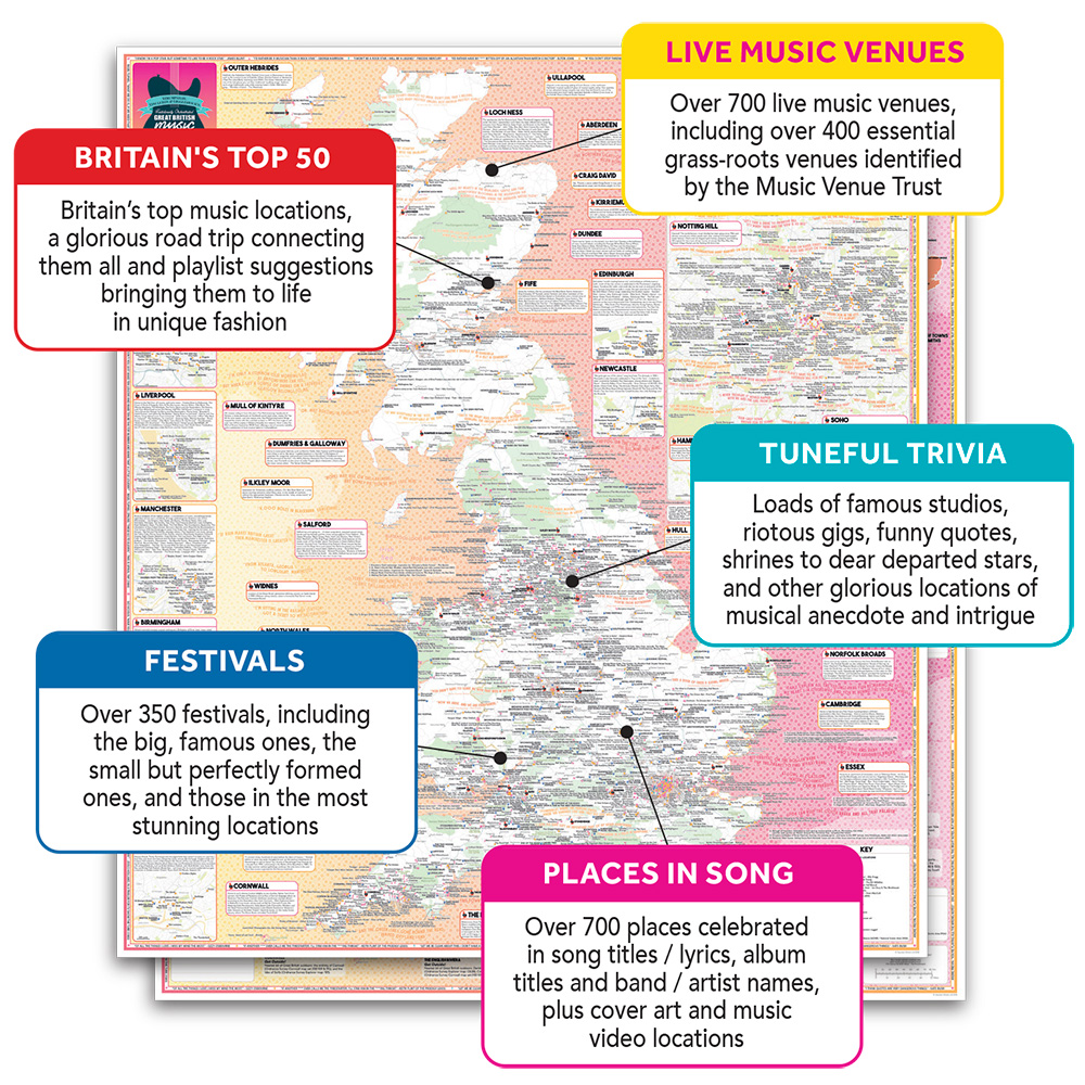 Stgs Fastidiously Orchestrated Great British Music Map Stgs