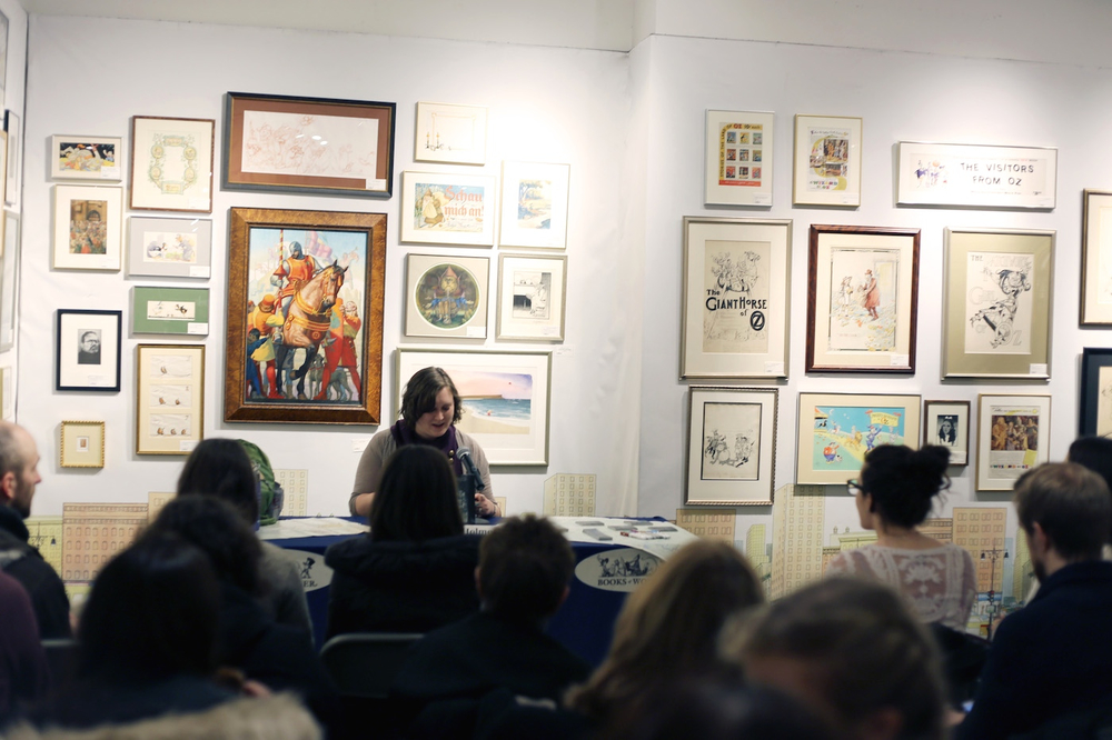 Books of Wonder launch party for THE DISTANCE BETWEEN LOST AND FOUND (February 17, 2015)