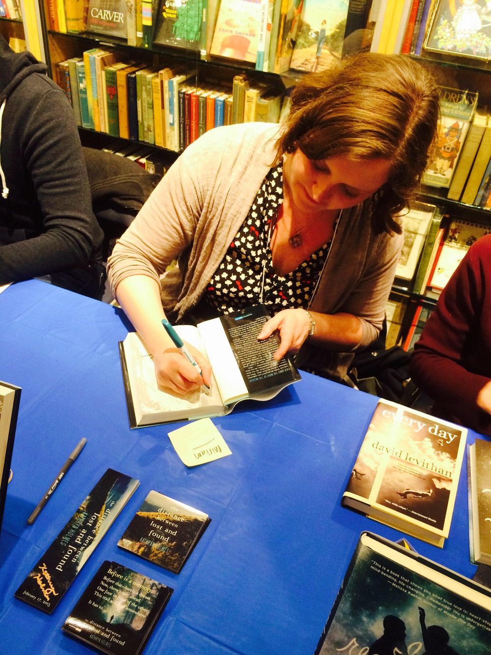 "Signing at the NYC Teen Author Festival ""Mega-Signing"" at Books of Wonder (March 2015)"