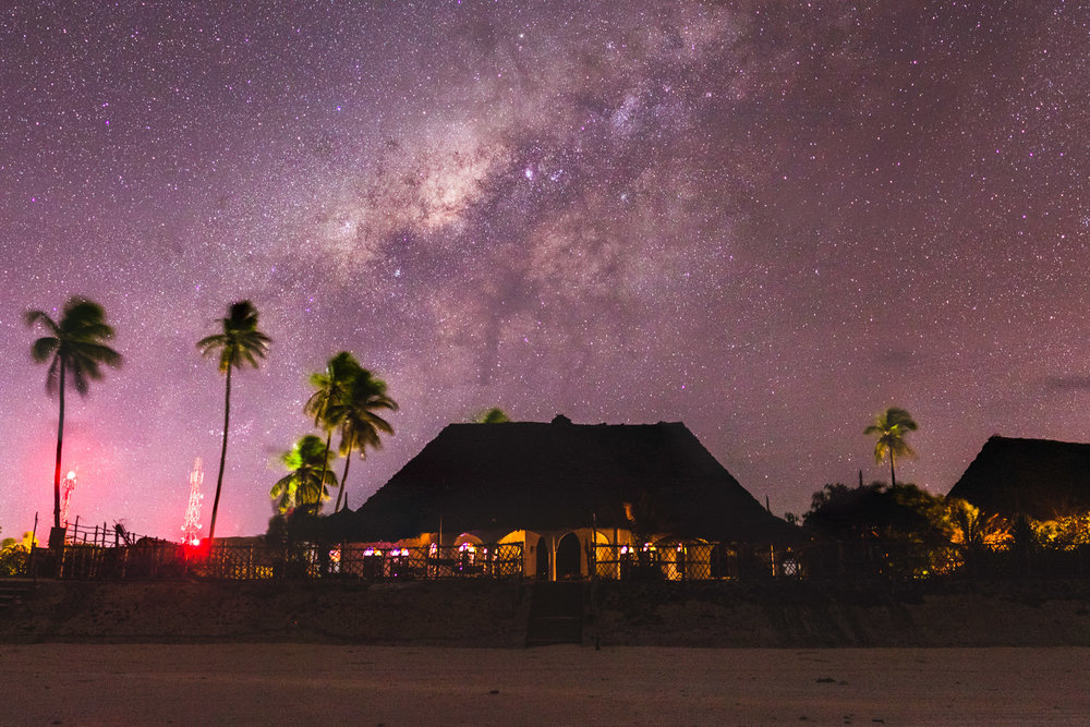 Milky way, Zanzibar