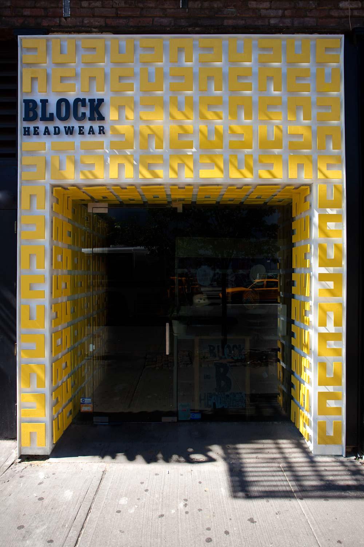 Block Headwear Storefront Design New York
