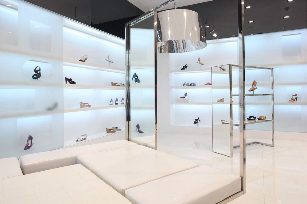 Jessica Simpson shoe store design