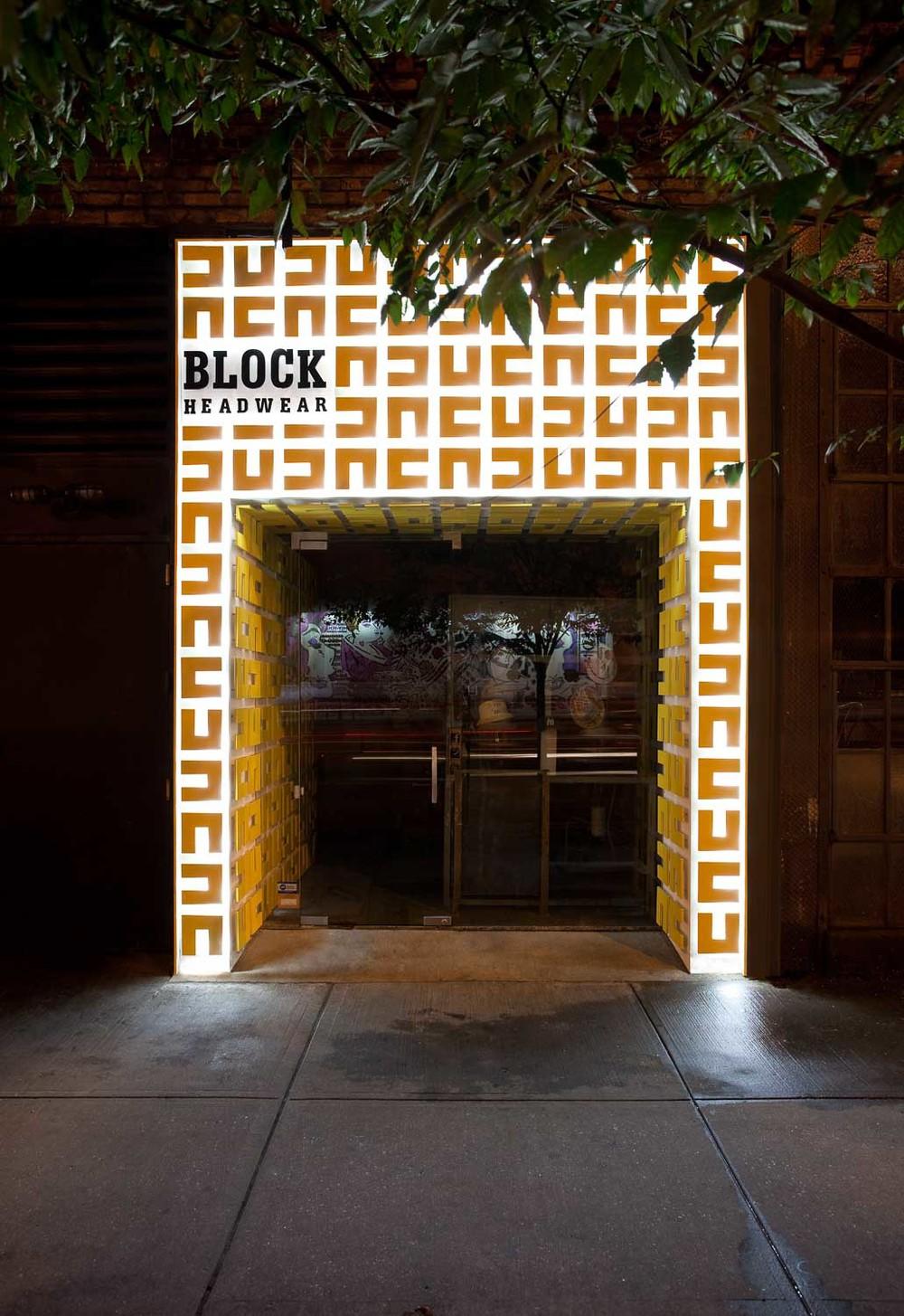 Blcok Headware Storefront Design