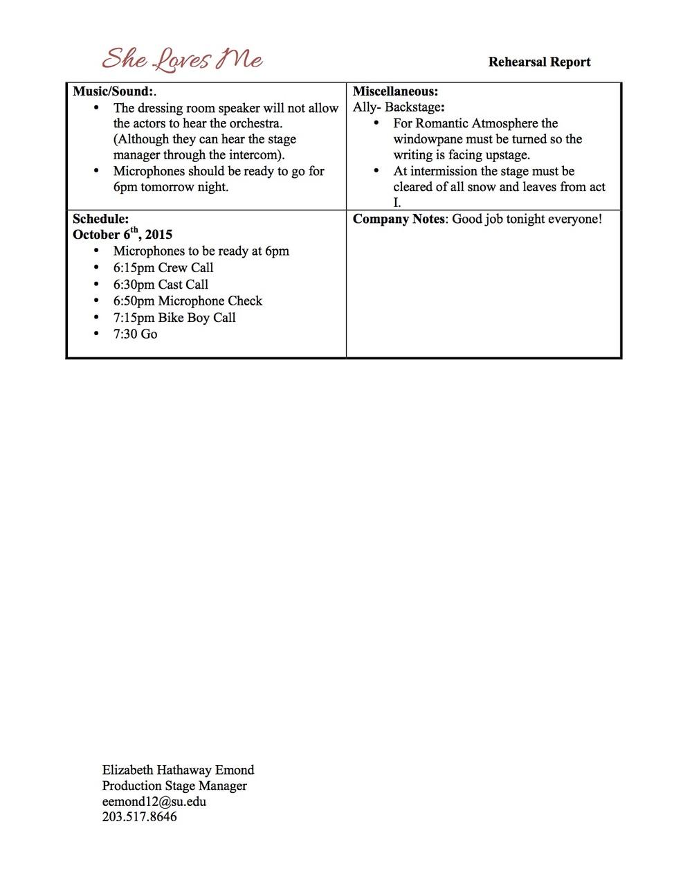 SLM Rehearsal Report