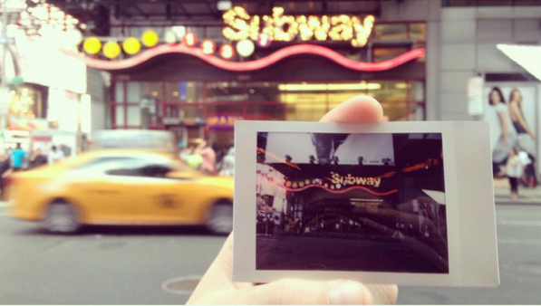 NYC Subway Poloroid