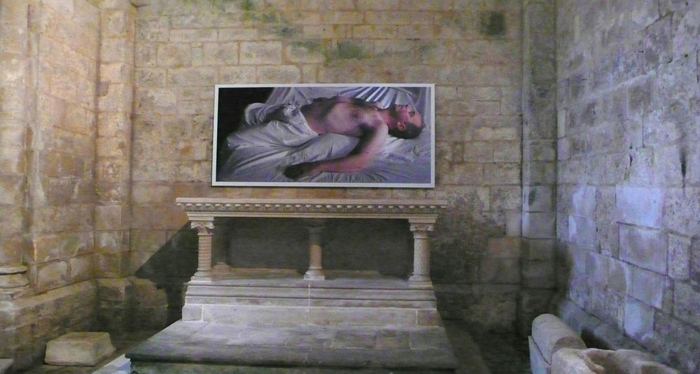 Fergus Martin and Anthony Hobbs, My Paradise Is Now, Eglise de Saint Pierre, Melle, France 2013