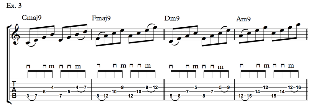 Nick Johnston Guitar - Arpeggio Sequence Lick - Ex. 3