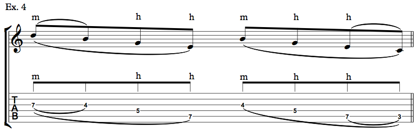 Nick Johnston Guitar - Arpeggio Sequence Lick - Ex. 4