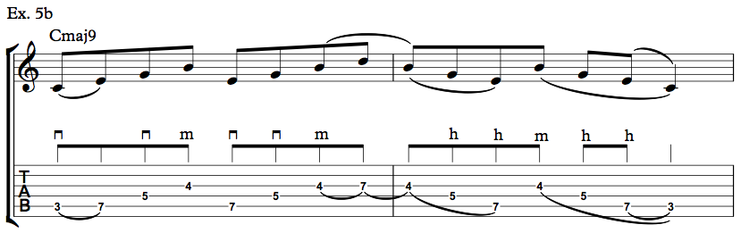 Nick Johnston Guitar - Arpeggio Sequence Lick - Ex. 5b