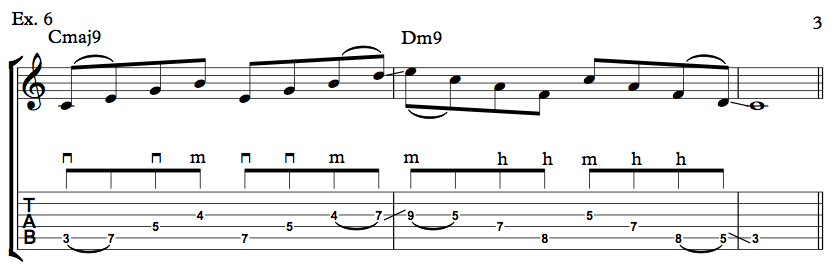 Nick Johnston Guitar - Arpeggio Sequence Lick - Ex. 6