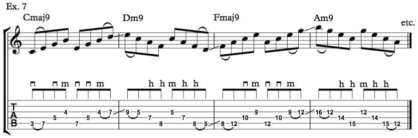 Nick Johnston Guitar - Arpeggio Sequence Lick - Ex. 7