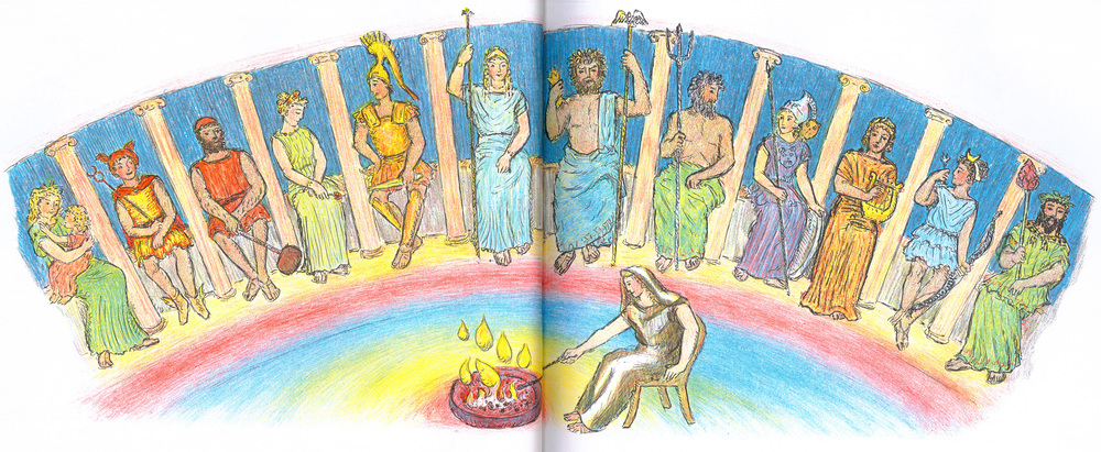 Olympians in D'Aulaires' Book of Greek Myths