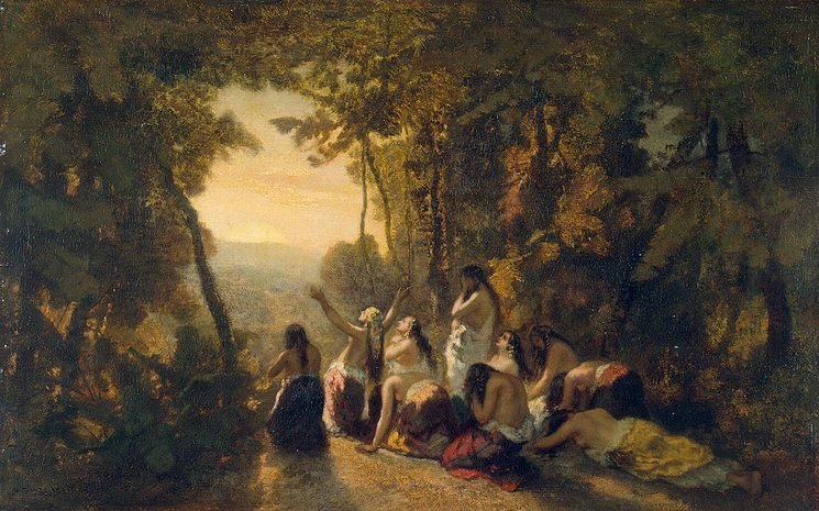 "Narcisse Diaz de la Pena ""Lament of Jephthah's Daughter"" (1846)"
