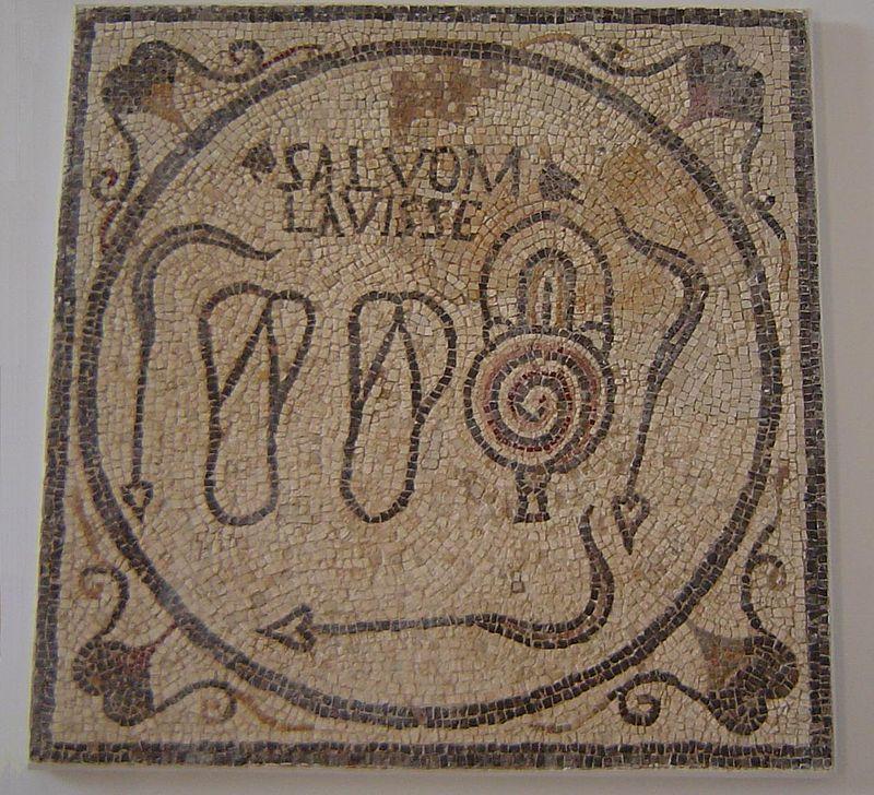 Public Bath Mosaic from Sabratha, Libya