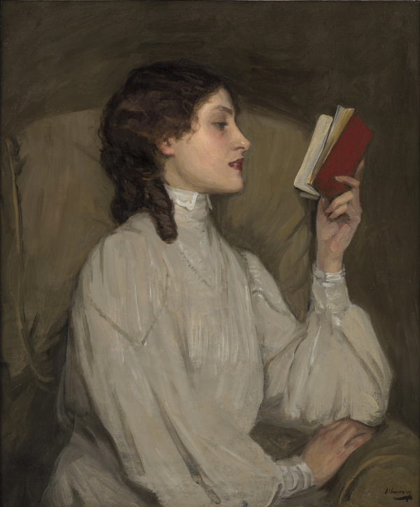 Miss Auras, The Red Book (1907). John Lavery [Public domain], via Wikimedia Commons