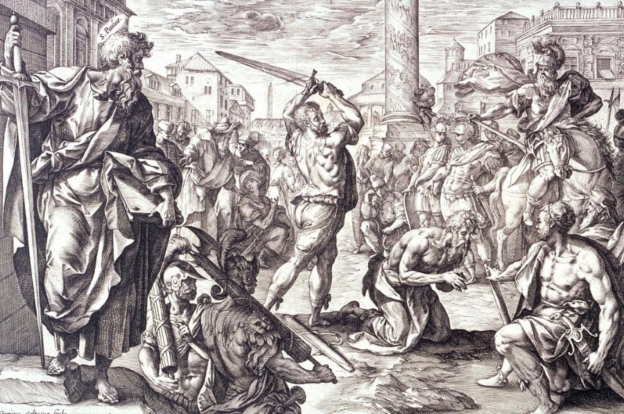 Hendrik Goltzius -  Saint Paul's Martyrdom