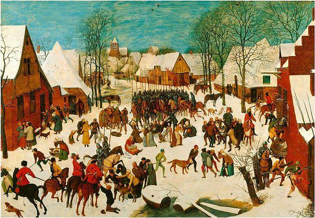 Pieter Brueghel the Elder, Massacre of the Innocents, Source here.