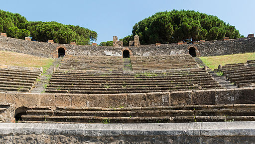 Amphitheatre at Pompeii, By Jebulon (Own work) [CC0], via Wikimedia Commons