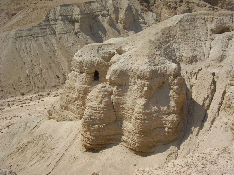 Q umran caves by Avishai Teicher, via Wikimedia Commons