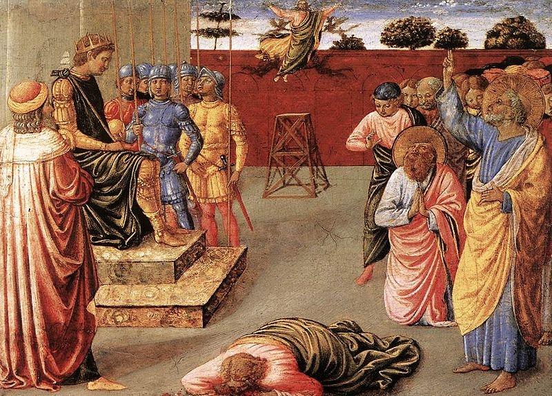 Benozzo Bozzoli,Fall of Simon Magus