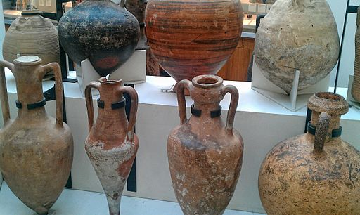 Wine and oil amphorae  by Andres Rueda.