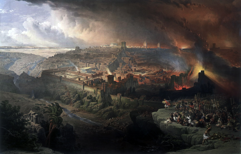 The Siege and Destruction of Jerusalem by the Romans Under the Command of Titus, A.D. 70 , David Roberts Oil on canvas, 1850.
