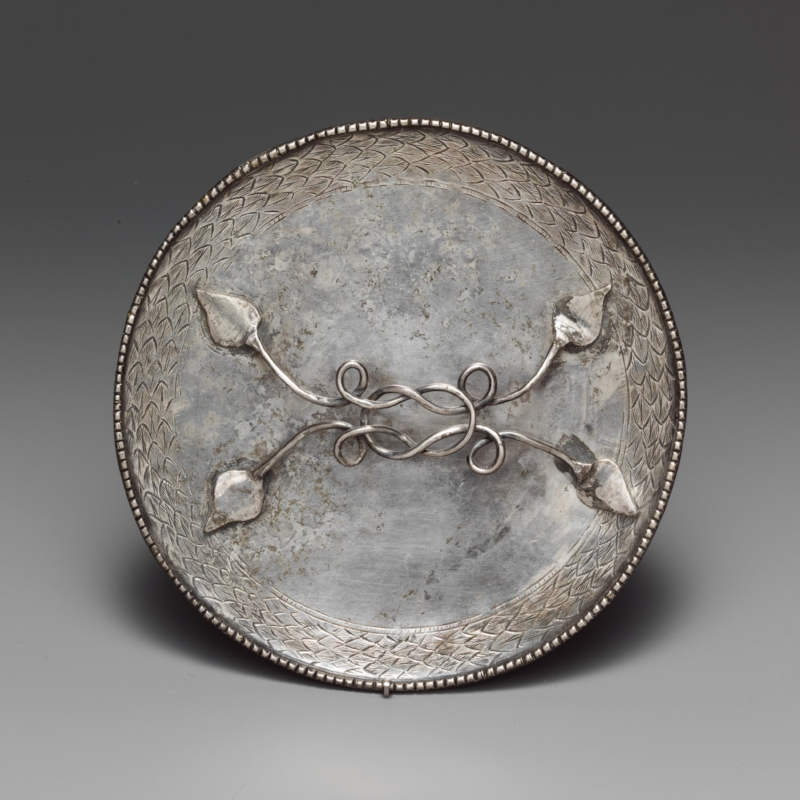 Silver Mirror (4th c. CE)   - The Metropolitan Museum of Art