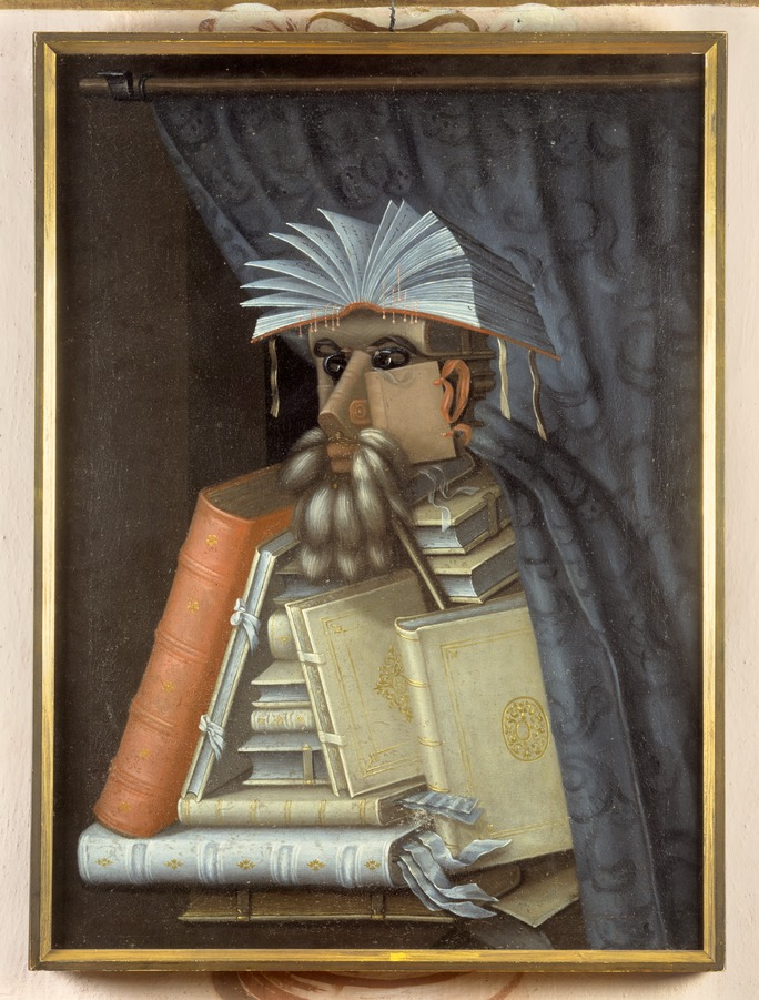 """The Librarian"" by Guiseppe Arcimboldos. Public Domain."