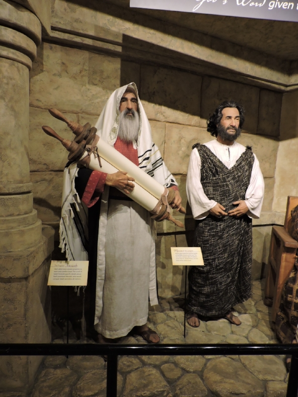 Fig 6. Isaiah and Moses, AiG Creation Museum. Photo by the author, Oct. 1, 2016.
