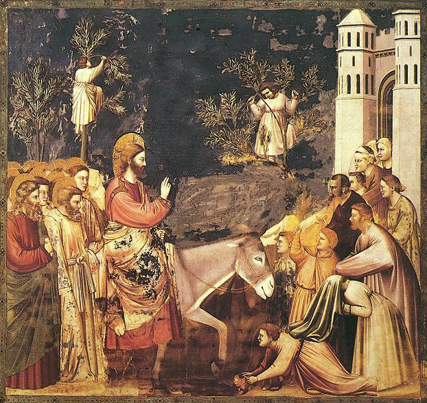 Giotto di Bondone, Entry into Jerusalem, 14th c. CE ( Wikimedia Commons )