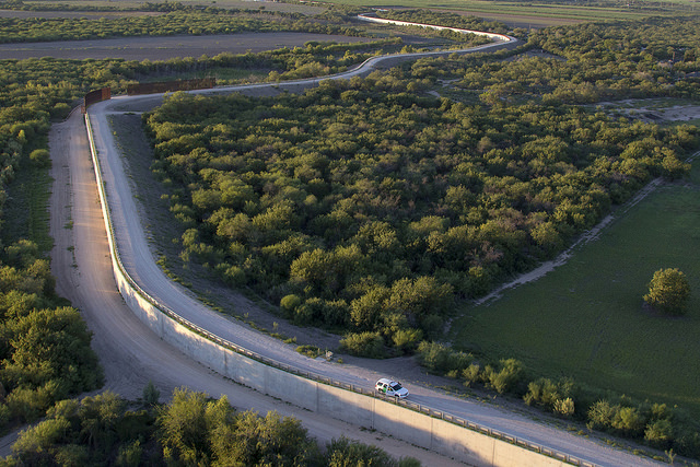 Southwest Texas McAllen Border Fence, Rio Grande Valley [ Photographer:  Donna Burton  ]