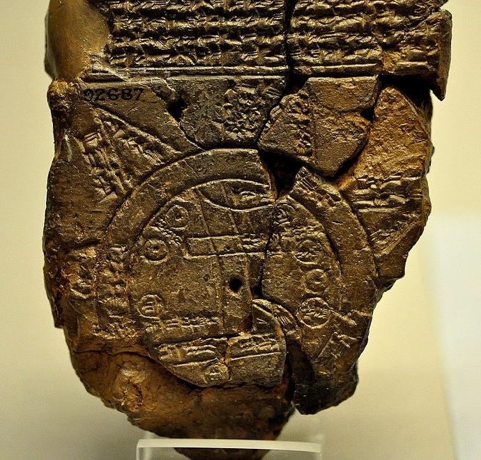 Babylonian Map ca. 6th century BCE ( Wikimedia Commons )