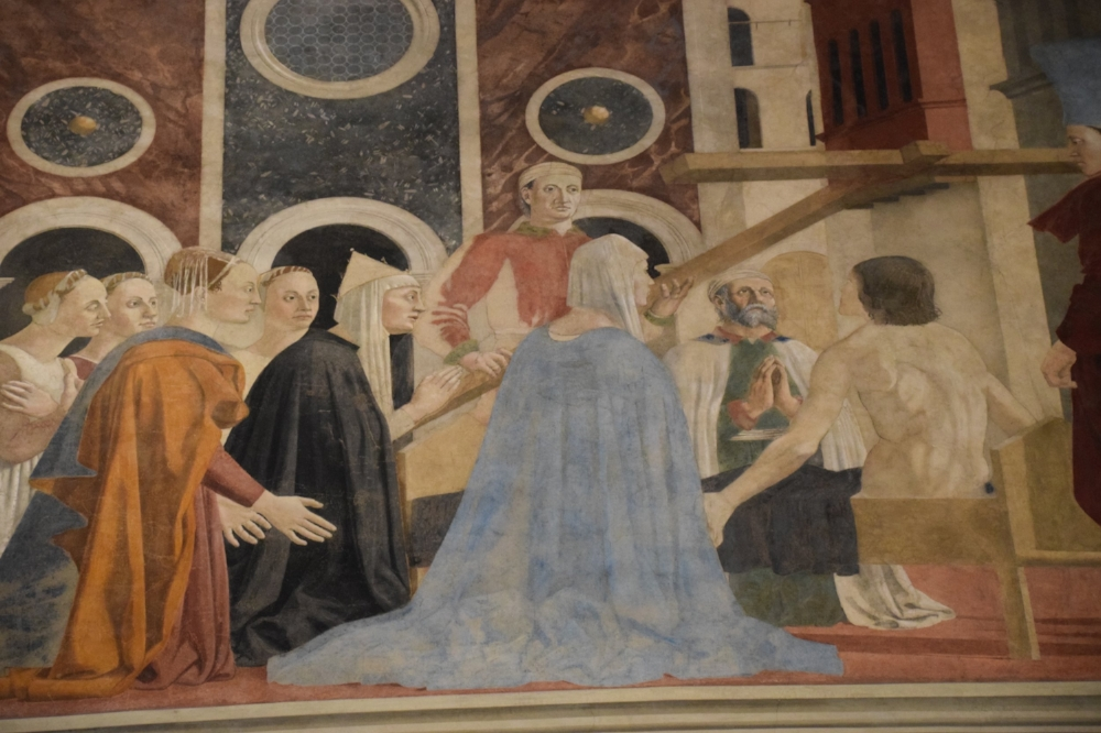 Helena as depicted in Piero della Francesca's Discovery and Proof of the True Cross (1447-1466). Image located in Basilica San Francesco in Arezzo, Italy. Courtesy of Angela Christman