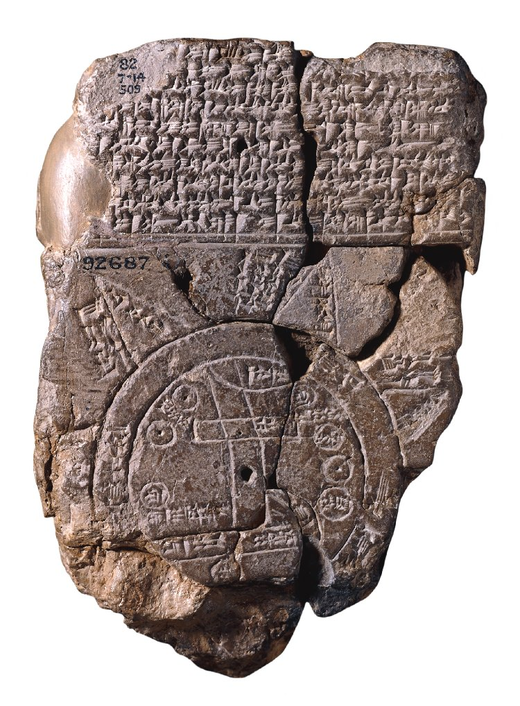 "The ""Babylonian Map of the World,"" Babylonian map on clay tablet (C6) 