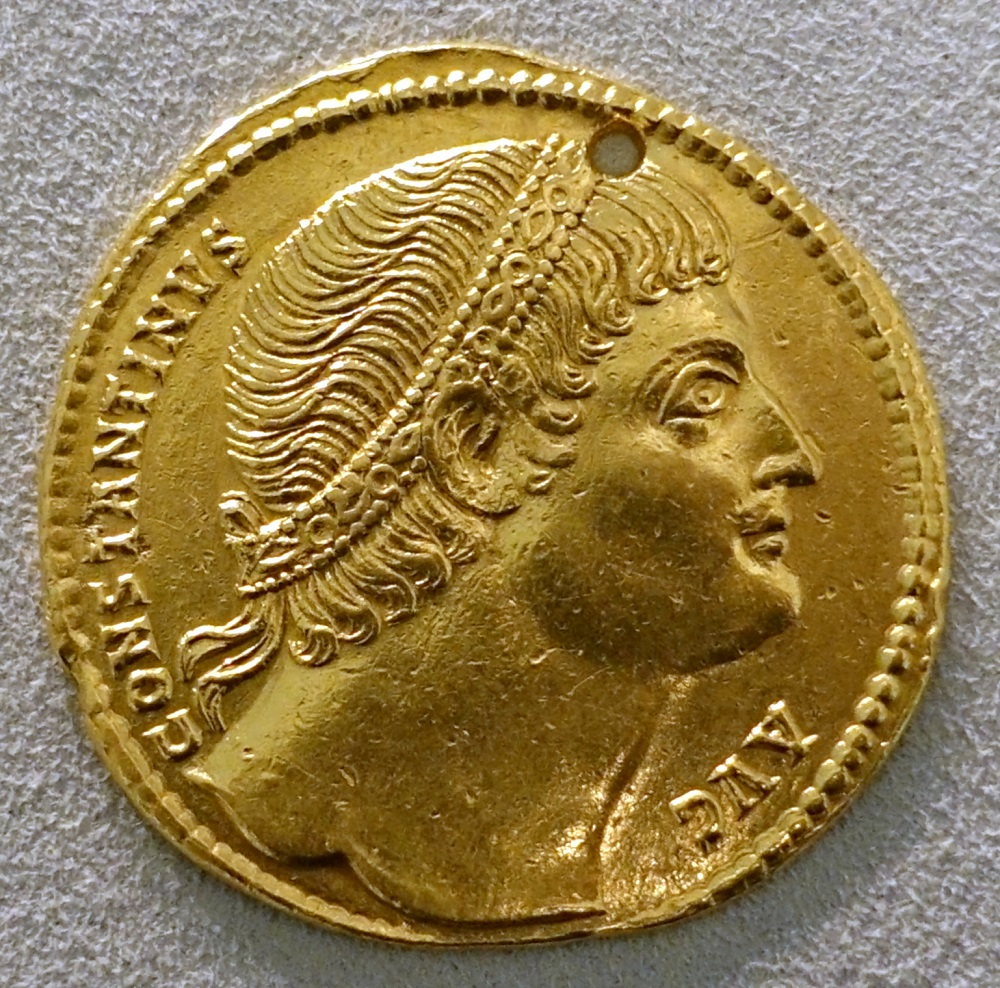 Solidus of Constantine I (326CE, Rome) | Exhibited in the Bode-Museum, Berlin |  Image Source