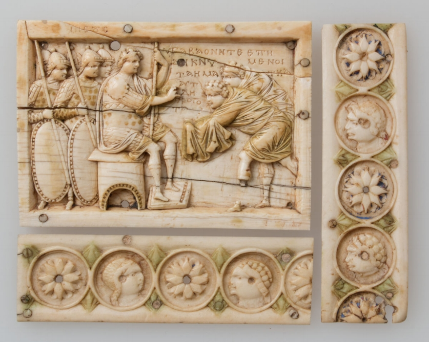 Ivory casket that illustrated Joshua's conquest of the Promised Land, 900–1000 CE. At the  Metropolitan Museum of New York .